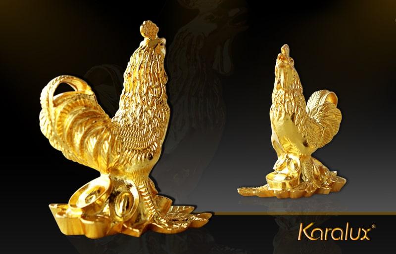 Tượng Gà vàng sung túc - TLV-12CG10-1 5