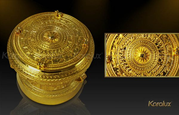 Trống đồng mạ vàng 24k 1