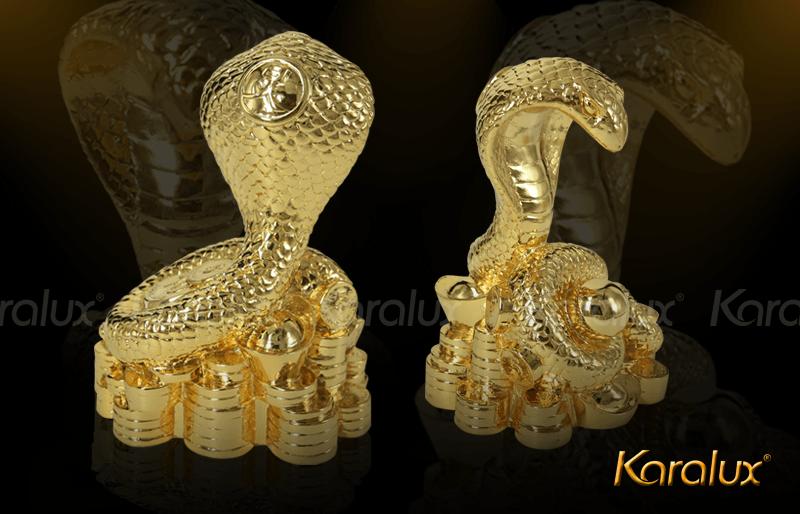 Linh vật rắn mạ vàng 24K | Bán linh vat ran phong thuy bang dong cho nguoi tuoi Ty