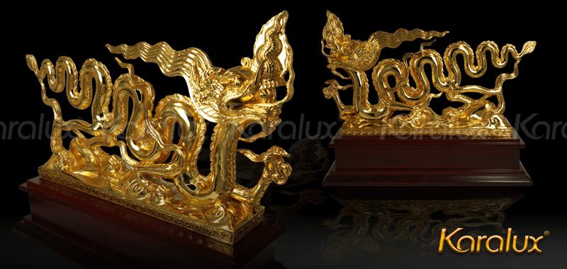 Biểu tượng Rồng thời Lý mạ vàng 24k |Tuong Rong Ma Vang