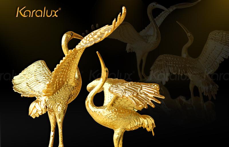 Karalux ra mắt chim Hạc mạ vàng độc đáo