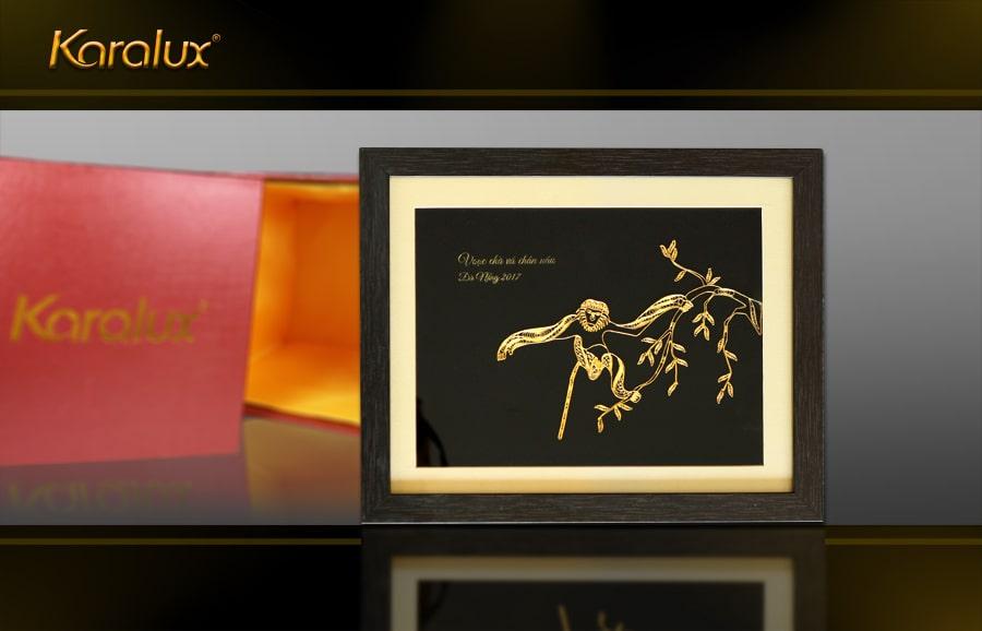 Tranh Vooc mạ vàng Karalux – TRB-0009-3545