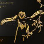 Tranh Vooc mạ vàng Karalux 2