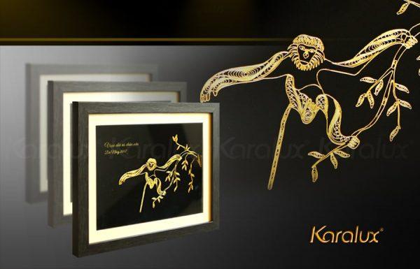 Bức tranh Vooc chà vá mạ vàng 24K bởi Karalux