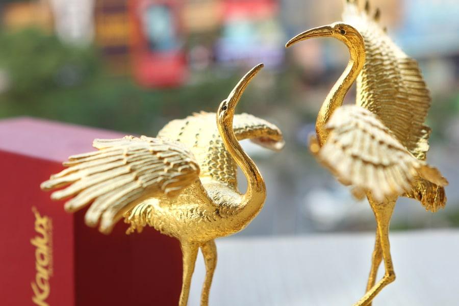 Chim Hạc mạ vàng quà tặng độc đáo và ý nghĩa