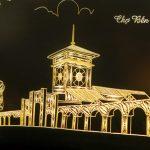 Bức tranh chợ Bến Thành mạ vàng 5
