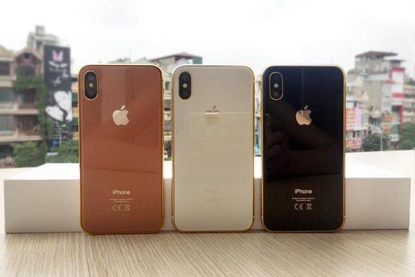 Mô hình iPhone 8 mạ vàng 1