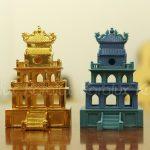 Mô hình Tháp Rùa mạ vàng 8