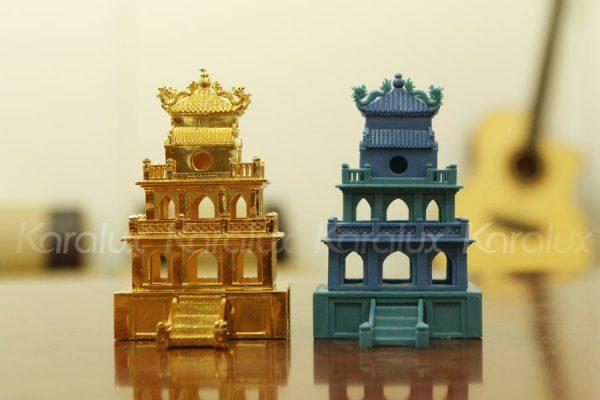 Mô hình Tháp Rùa mạ vàng 3