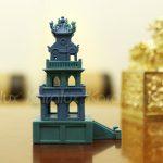 Mô hình Tháp Rùa mạ vàng 6