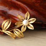 Hoa cài áo cao cấp mạ vàng Karalux 5