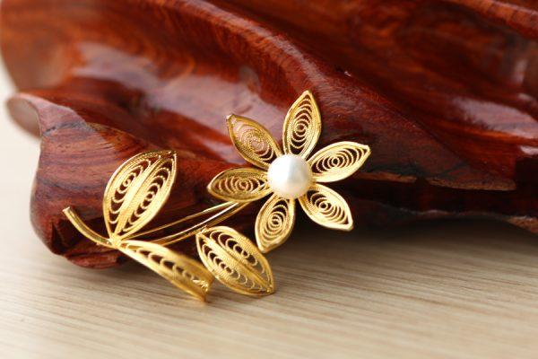 Hoa cài áo cao cấp mạ vàng Karalux 2