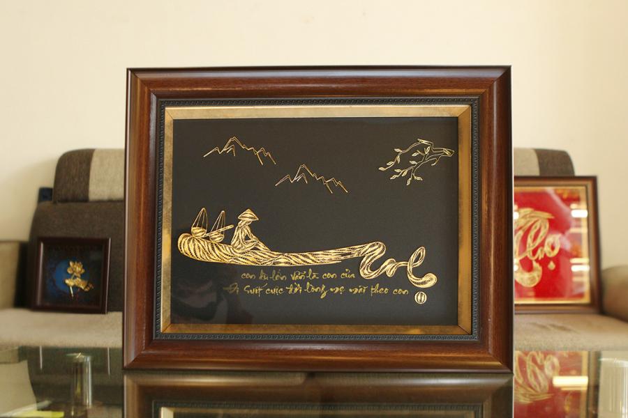 Tranh chữ Mẹ mạ vàng là quà tặng Mẹ vô cùng ý nghĩa trong ngày lễ Vu Lan
