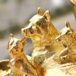 Tượng Linh khuyển Đoàn Viên mạ vàng 5