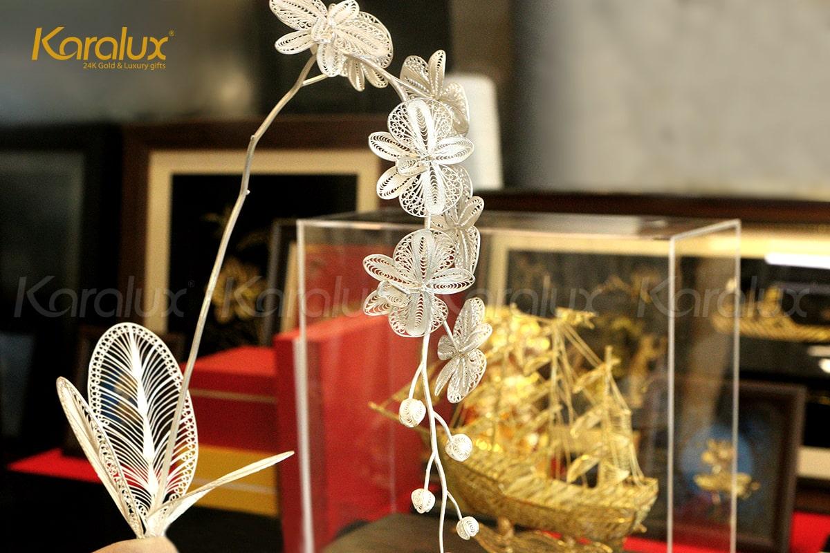 Hoa lan mạ vàng Phú Quý (5 bông) 10
