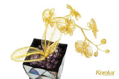 Tranh hoa hướng dương bằng bạc mạ vàng (5 bông) 15