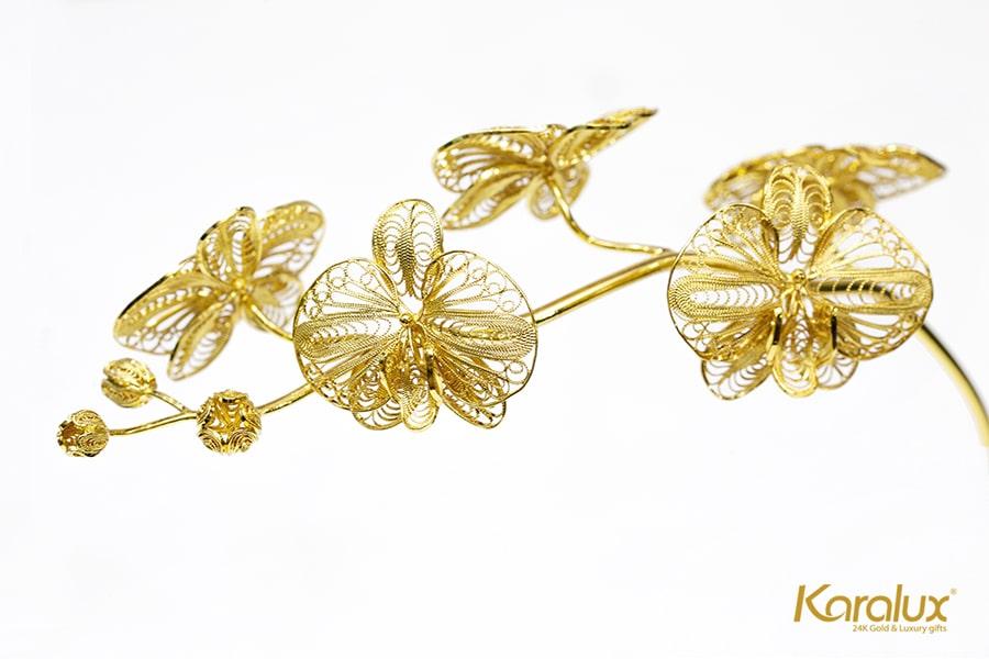 Hoa lan mạ vàng Phú Quý (5 bông) 9