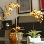 """Hoa phong lan mạ vàng """"Cành vàng lá ngọc"""" 3"""