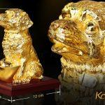 Tượng chó Gia Khuyển An Khang mạ vàng 9