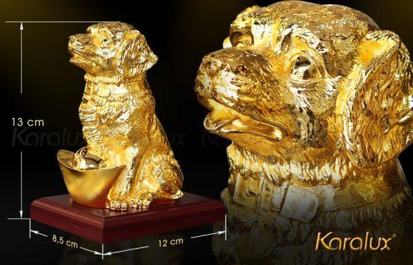 Tượng chó Gia Khuyển An Khang mạ vàng 4