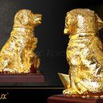 Tượng chó Gia Khuyển An Khang mạ vàng 5