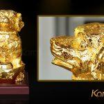 Tượng chó Gia Khuyển An Khang mạ vàng 7