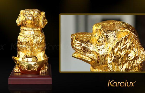 Tượng chó Gia Khuyển An Khang mạ vàng 3