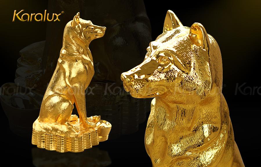 Bộ sưu tập tượng Linh Khuyển mạ vàng trấn gia an mừng xuân Mậu Tuất 2018 3