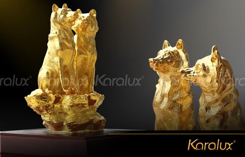 Bộ sưu tập tượng Linh Khuyển mạ vàng trấn gia an mừng xuân Mậu Tuất 2018 7