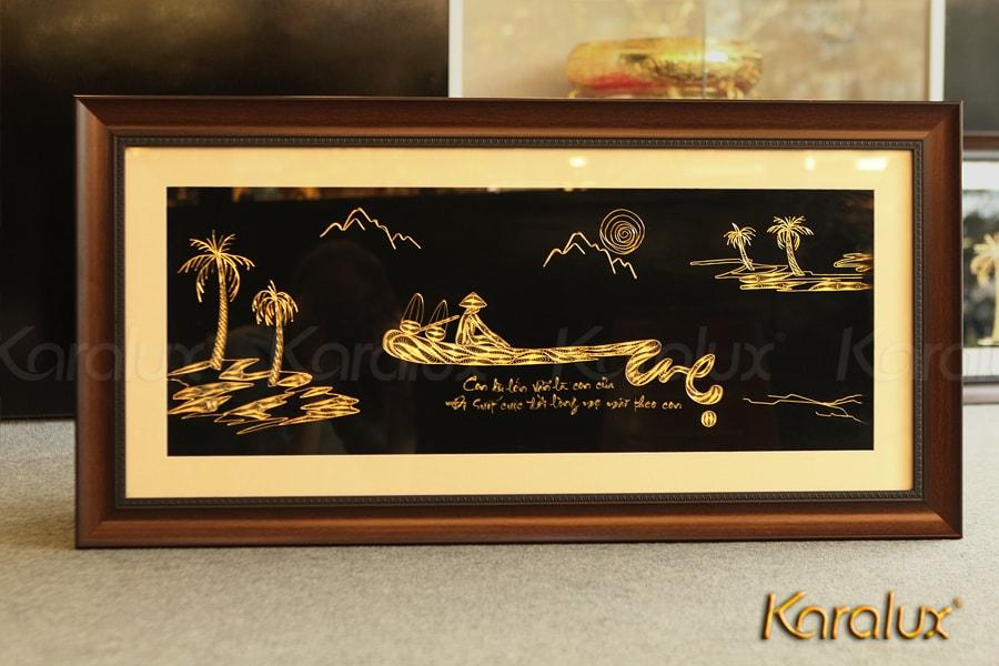 Tranh chữ mẹ thư pháp mạ vàng – TRC-0005-4080