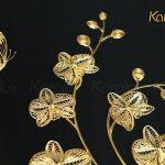 Tranh hoa phong lan mạ vàng 4