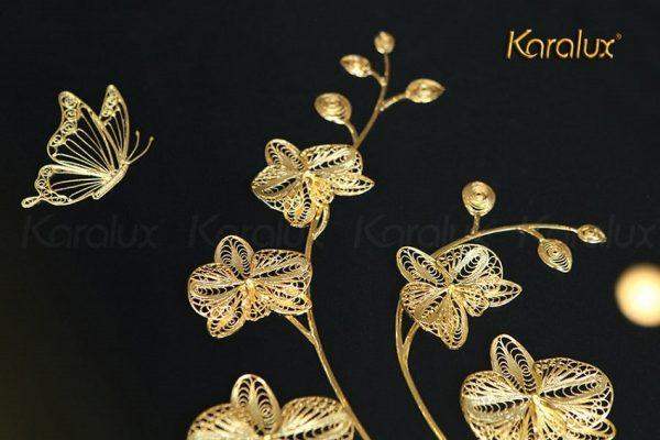 Tranh hoa phong lan mạ vàng 2