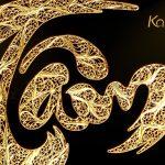 Tranh thư pháp chữ Tâm mạ vàng 4