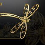 Tranh hoa sen phong thủy mạ vàng 9
