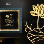 Tranh hoa sen để bàn mạ vàng 24k 7
