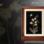 Tranh hoa phong lan mạ vàng 6