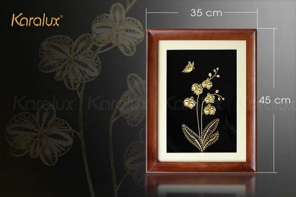 Tranh hoa phong lan mạ vàng 3