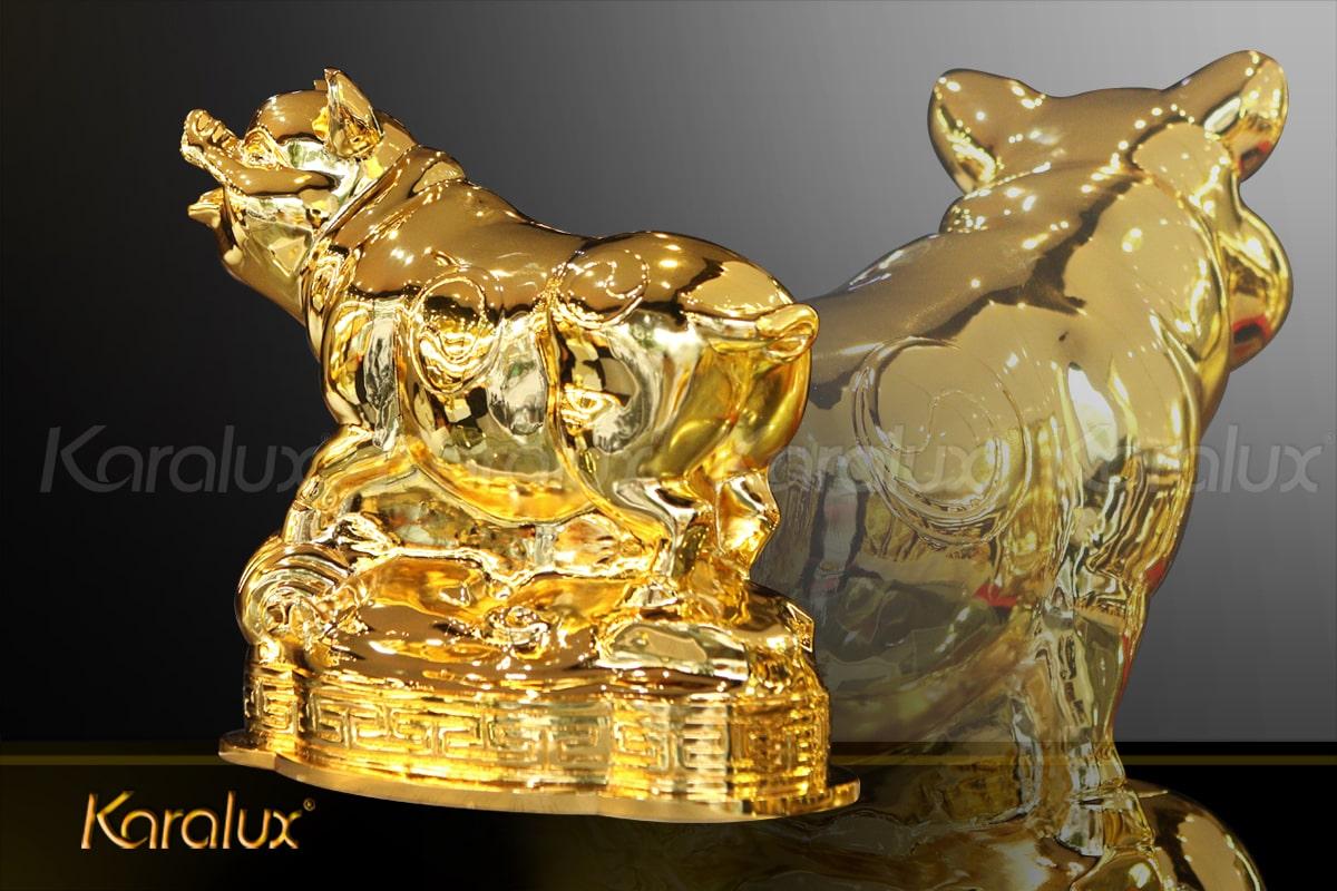 Tượng heo vàng (lợn) Phú Quý 2