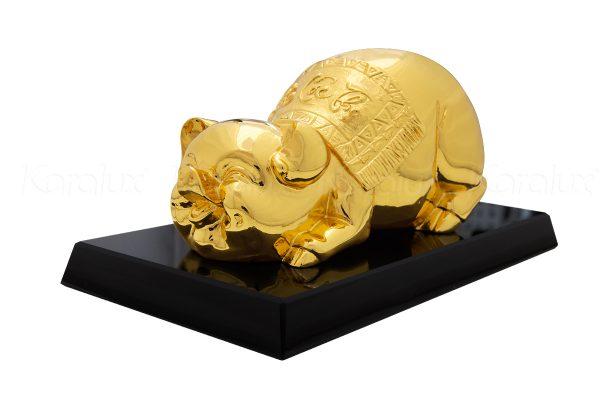 Tượng heo phong thủy mạ vàng Phúc Lộc Thọ 1