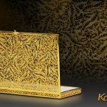 Hộp đựng danh thiếp mạ vàng hoa tiết văn độc đáo 6