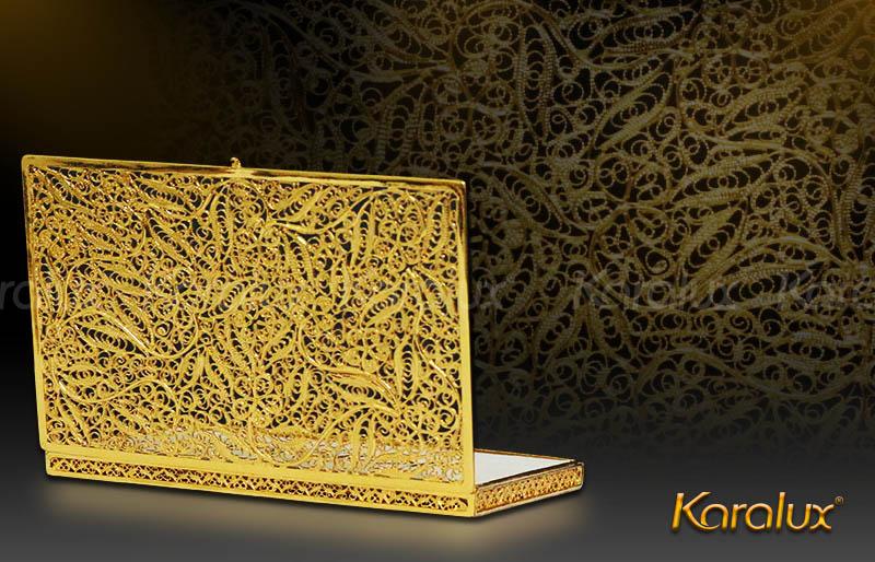 Hộp đựng danh thiếp mạ vàng hoa tiết văn độc đáo 8