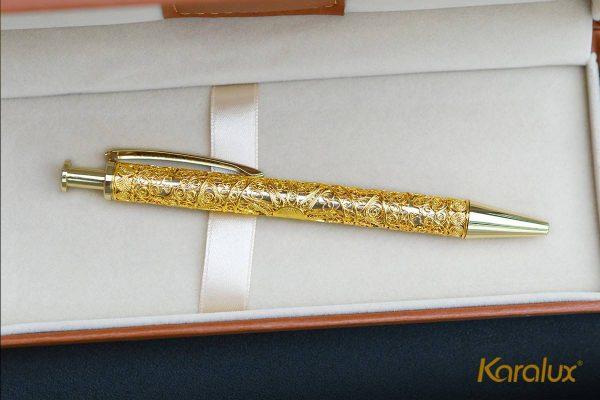 Bút ký cao cấp mạ vàng Karalux 3