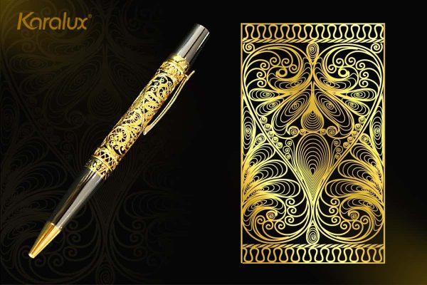 Bút ký cao cấp mạ vàng Karalux 6