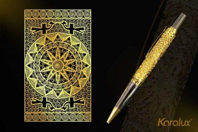 Bút ký bấm mạ vàng Karalux 7
