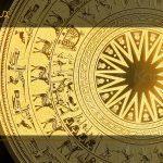 Tranh trống đồng mạ vàng Karalux được thiết kế với họa tiết nguyên bản trống đồng Đông Sơn