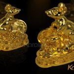 Tượng Chuột phong thủy mạ vàng 3