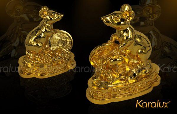 Tượng Chuột phong thủy mạ vàng 2