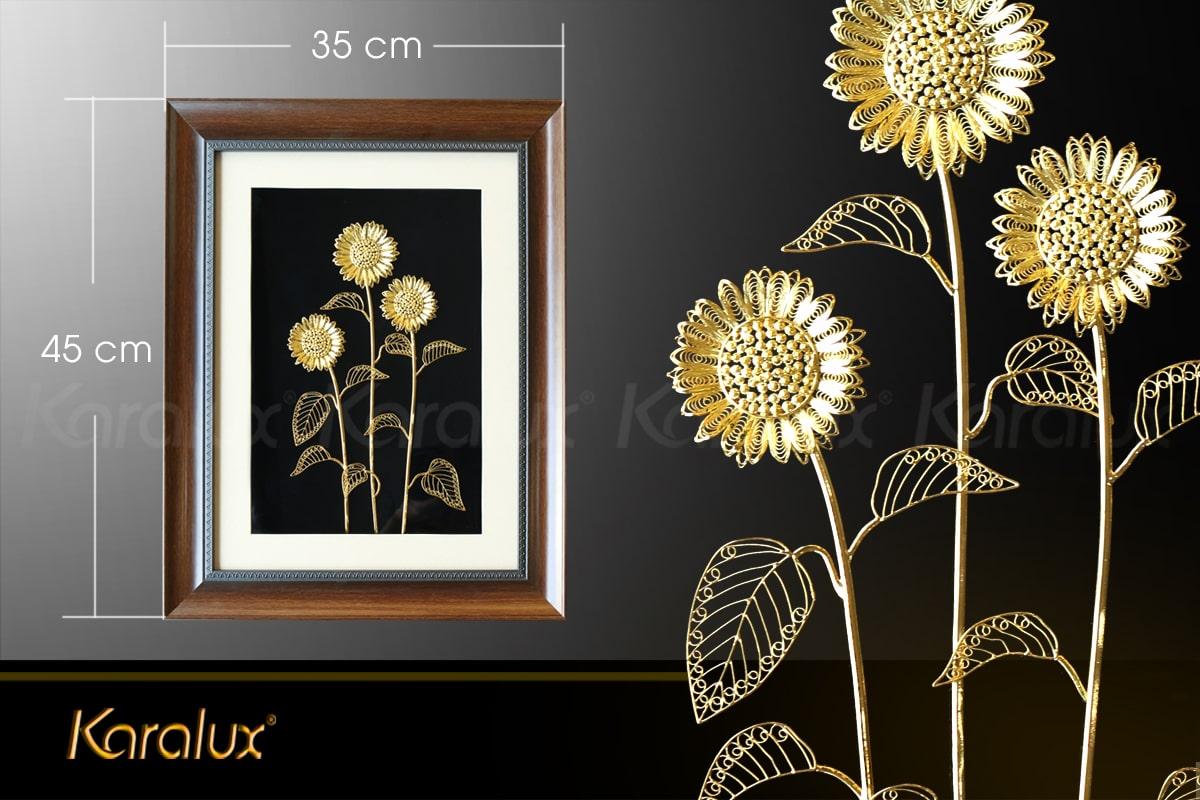 Kích thước tranh hoa hướng dương 3 bông