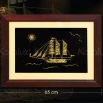 Kích thước tranh thuyền buồm phong thủy mạ vàng (cỡ 2)