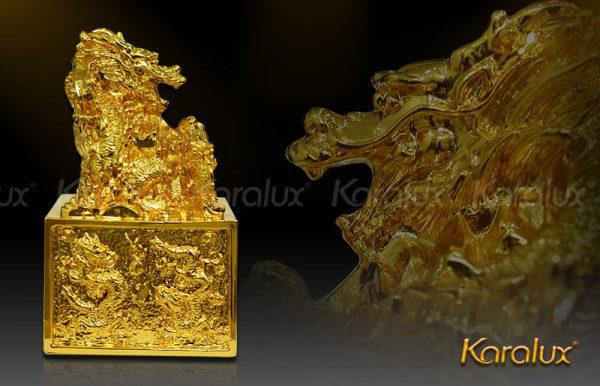 Ấn rồng mạ vàng 1